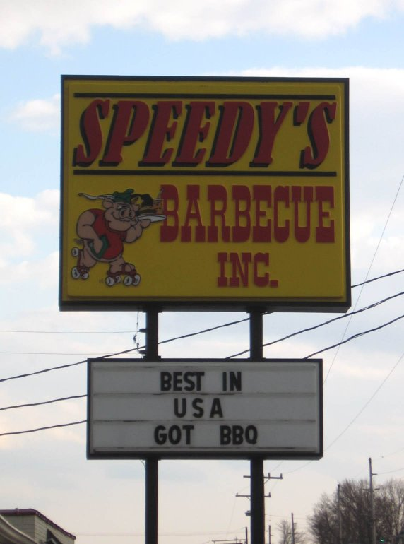 Speedy's BBQ Sign